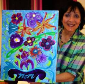 Painting for My Loving Mom's Memorial Service 8/24/2013